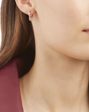 Diamond Shaker Hoop Earring, METALLIC, hi-res