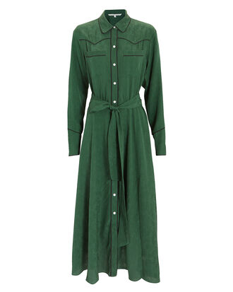 Spur Green Midi Dress, GREEN, hi-res