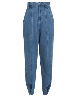 Peripheral High-Waist Jeans, MEDIUM WASH DENIM, hi-res