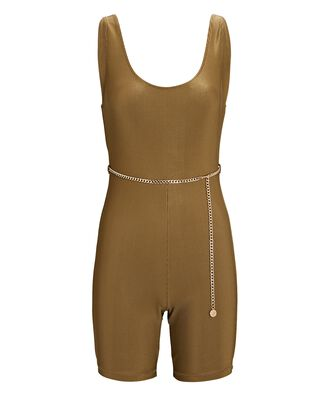 Belted Rib Knit Catsuit, OLIVE/ARMY, hi-res