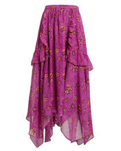 Torri Magenta Silk Skirt, MULTI, hi-res