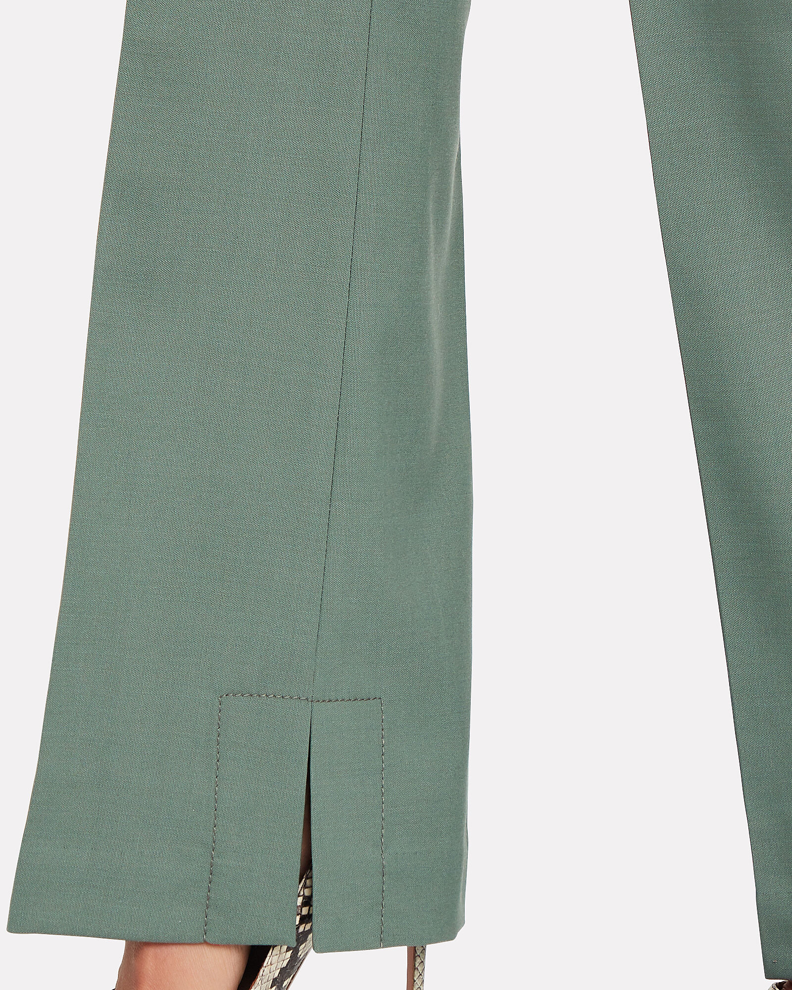 Tailored Wool-Blend Trousers, GREEN, hi-res