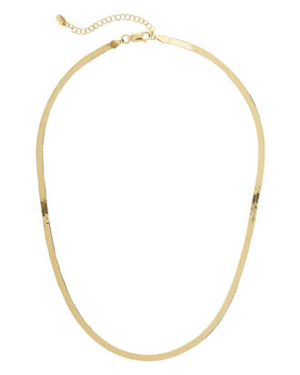 Herringbone Necklace, GOLD, hi-res