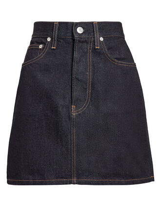 High-Rise Mini Skirt, DARK BLUE DENIM, hi-res