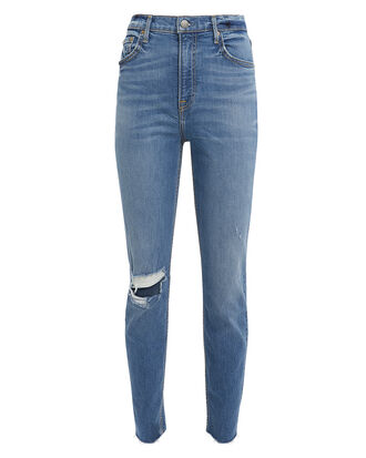 Kendall Distressed Skinny Jeans, MEDIUM BLUE DENIM, hi-res