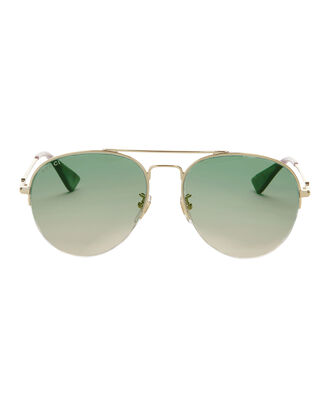 Green Gradient Aviator Sunglasses, COLORBLOCK, hi-res