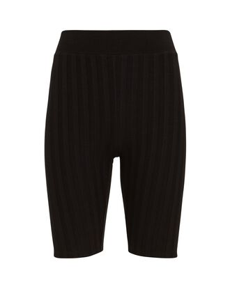 Morgan Rib Knit Bike Shorts, BLACK, hi-res