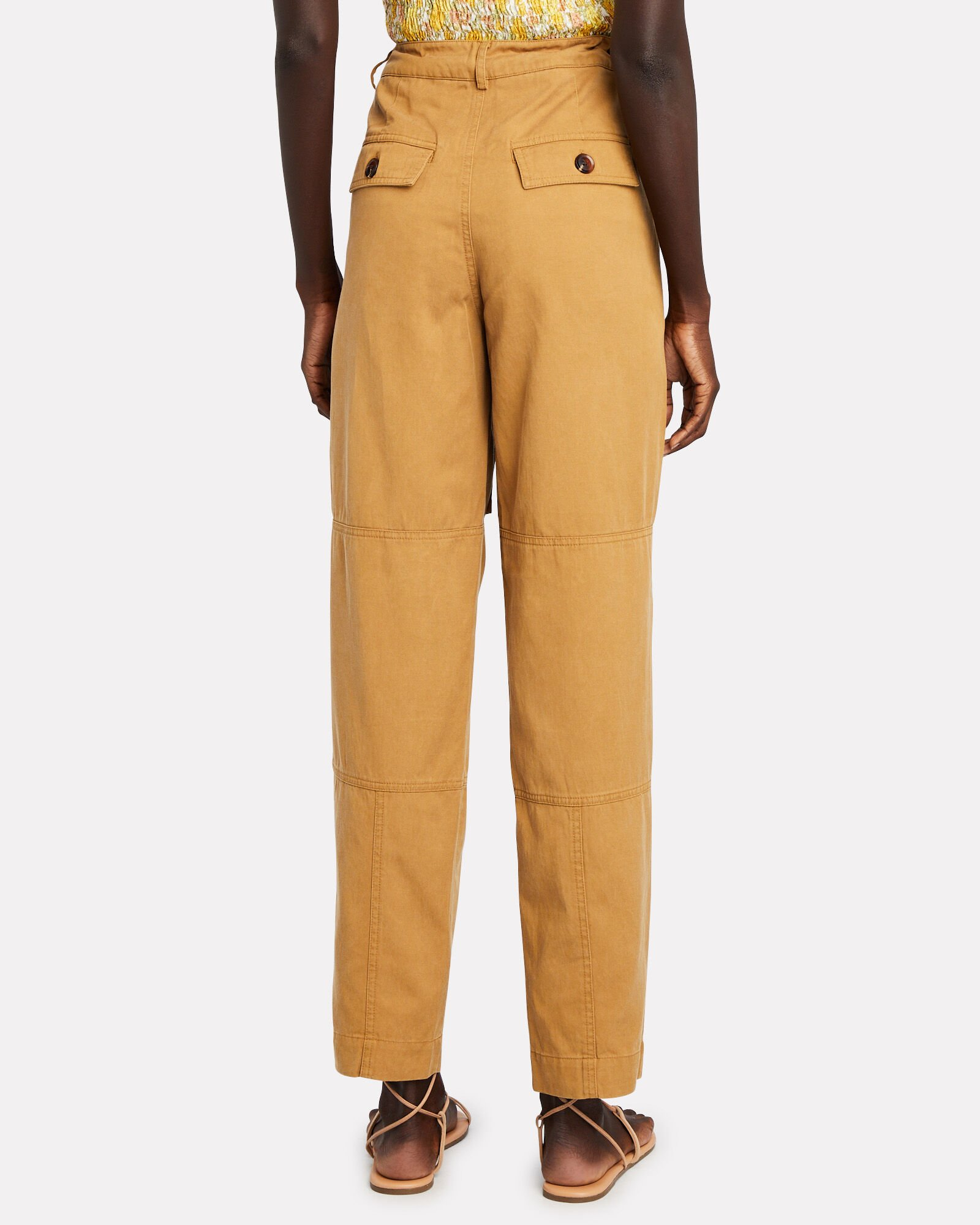 Sukari Cotton-Blend Cargo Trousers, YELLOW, hi-res