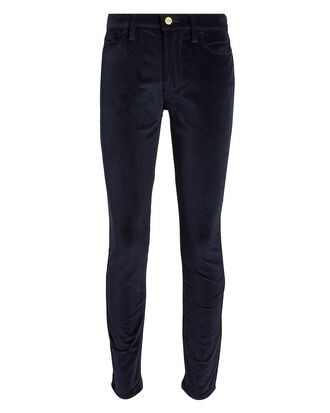 High-Rise Corduroy Skinny Pants, NAVY, hi-res
