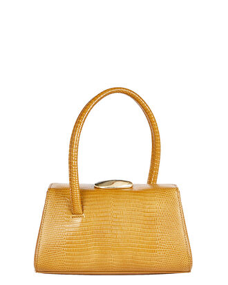 Baby Boss Lizard-Embossed Leather Bag, MUSTARD, hi-res