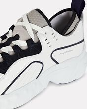 Manhattan Leather Sneakers, BLK/WHT, hi-res