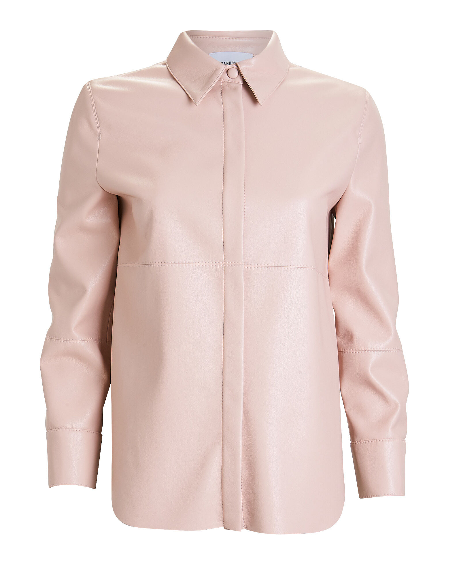 Naum Button Down Top, BLUSH, hi-res
