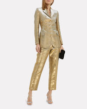 Curtis Moiré Metallic Blazer, GOLD, hi-res