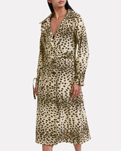 Leo Leopard Double Breasted Trench Coat, MULTI, hi-res