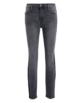 Le High Skinny Tuxedo Coated Jeans, GREY, hi-res