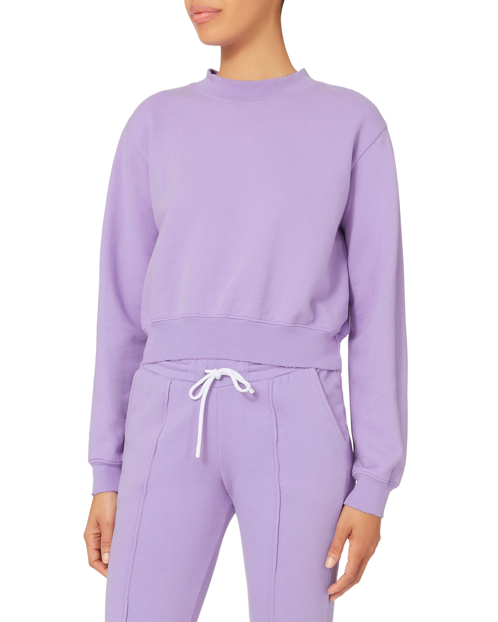 Milan Cropped Purple Sweatshirt, PURPLE-LT, hi-res