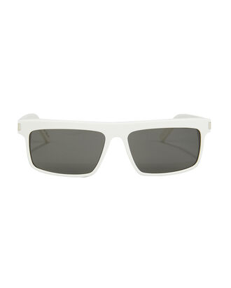 Narrow Rectangle Sunglasses, WHITE, hi-res