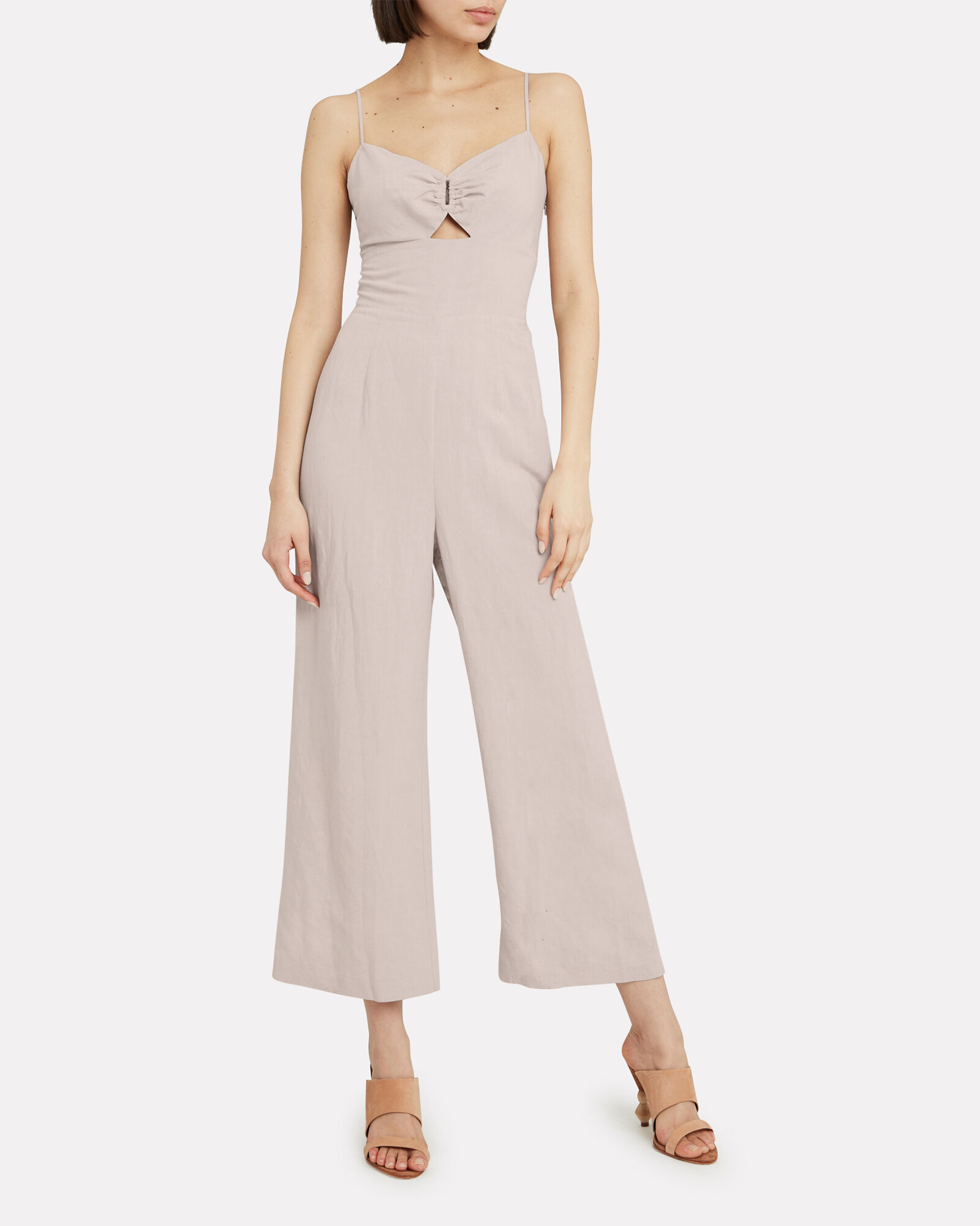 Claudie O-Ring Linen Jumpsuit, BEIGE, hi-res