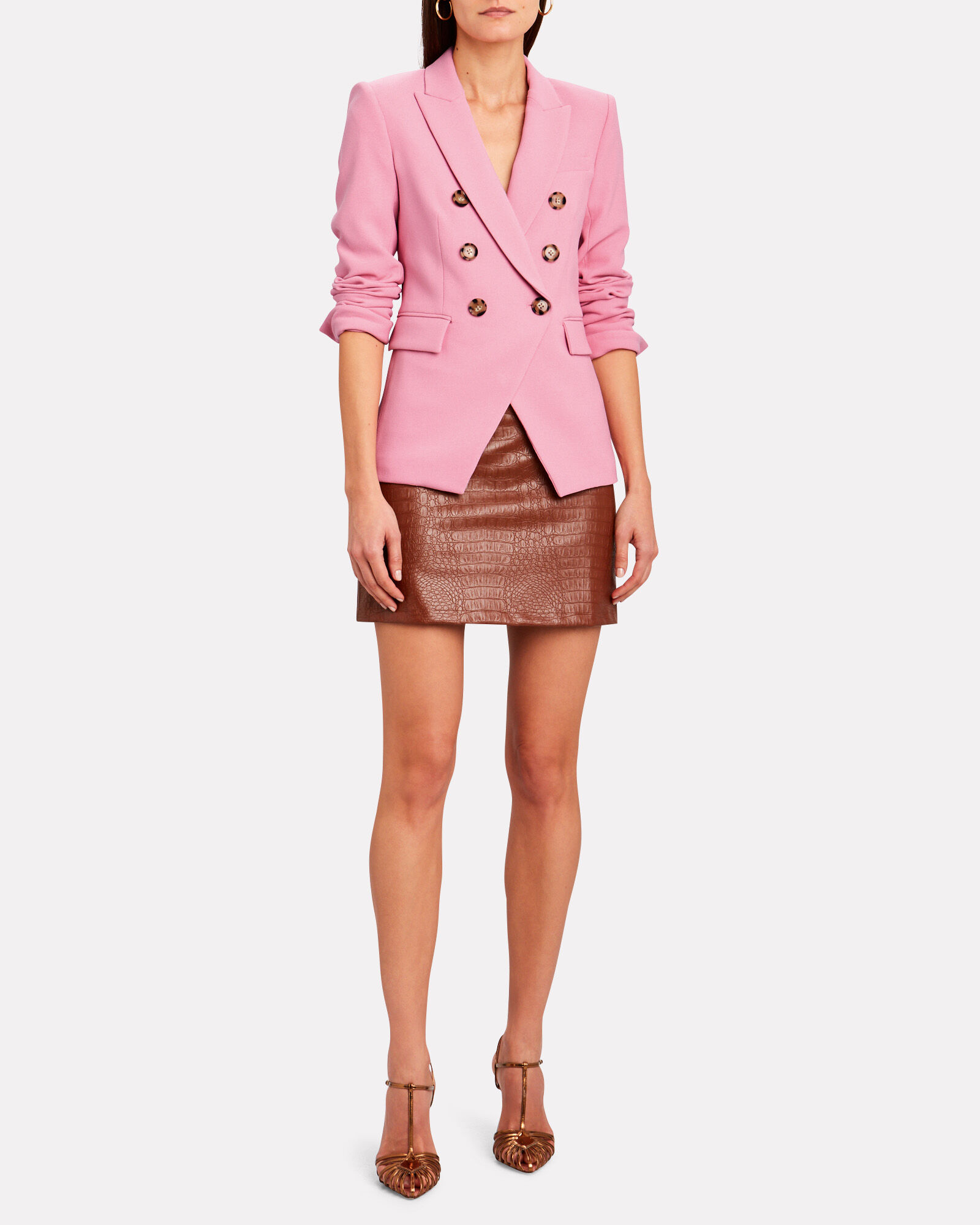 Miller Double-Breasted Dickey Blazer, PALE PINK, hi-res
