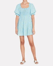 Charlotte Floral Mini Dress, LIGHT BLUE, hi-res