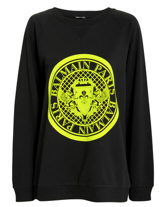 Coin Logo Sweatshirt, BLACK, hi-res