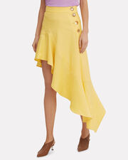 Ella Asymmetric Skirt, YELLOW, hi-res