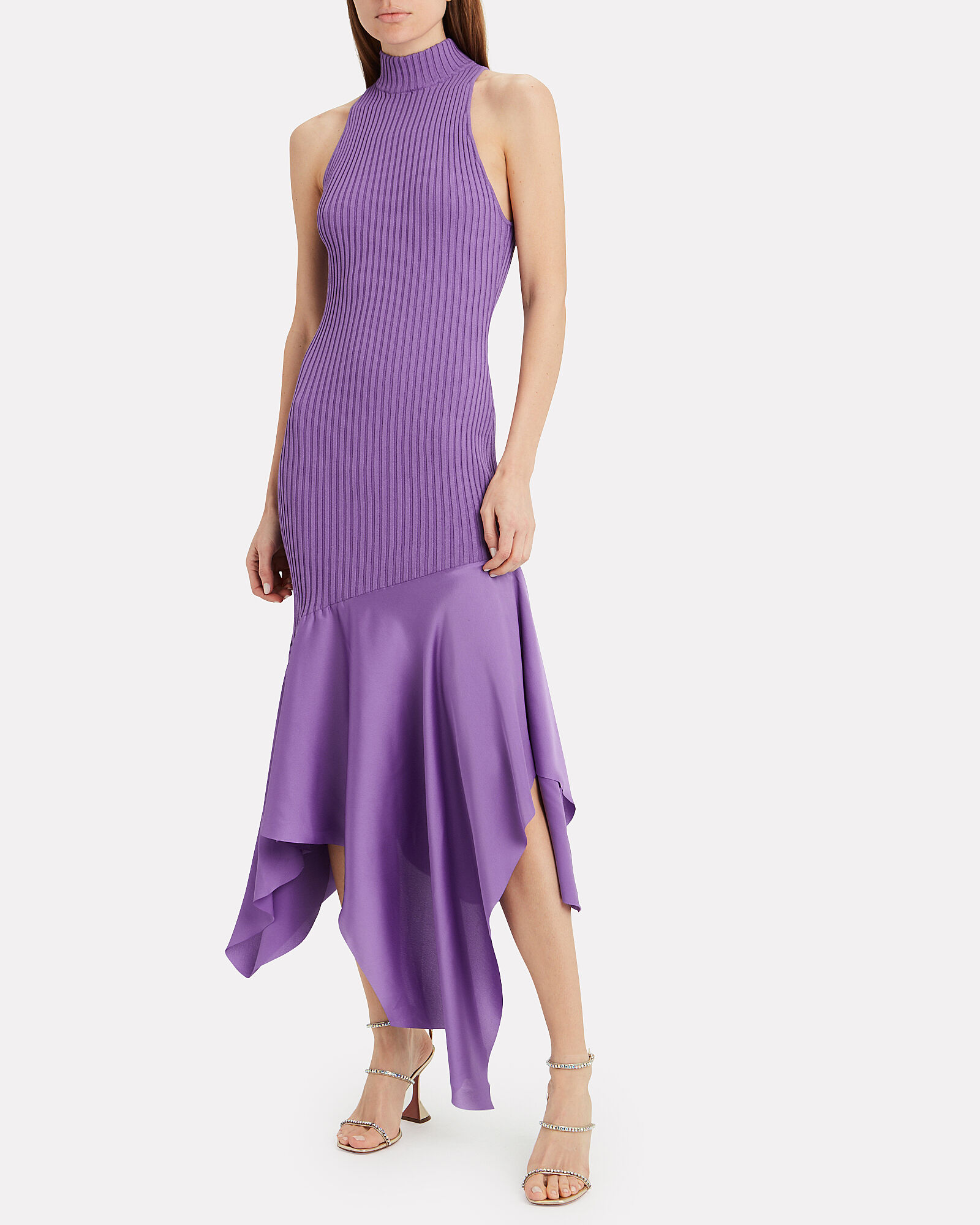 Dilan Ribbed Dress, PURPLE, hi-res