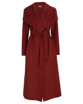 Mai Wool Wrap Coat, PAPRIKA, hi-res