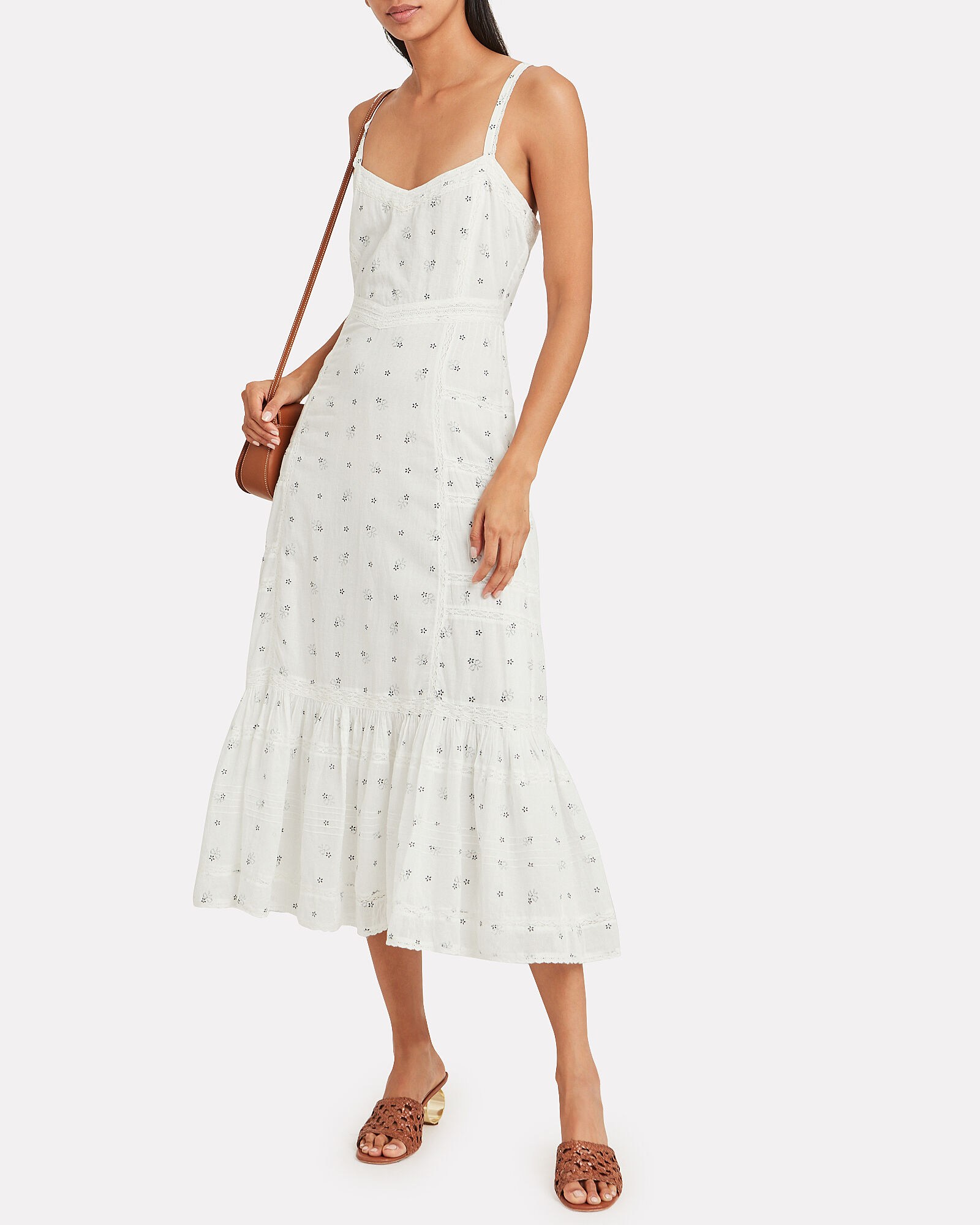 Edith Tiered Cotton Dress, MULTI, hi-res