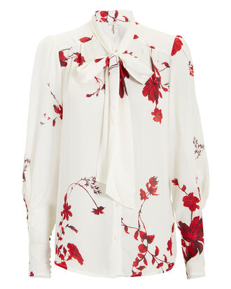 Angeletta Floral Blouse, IVORY, hi-res