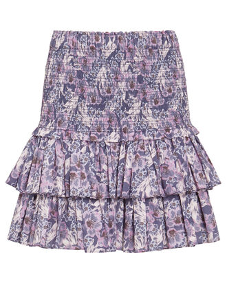 Naomi Smocked Floral Mini Skirt, MULTI, hi-res