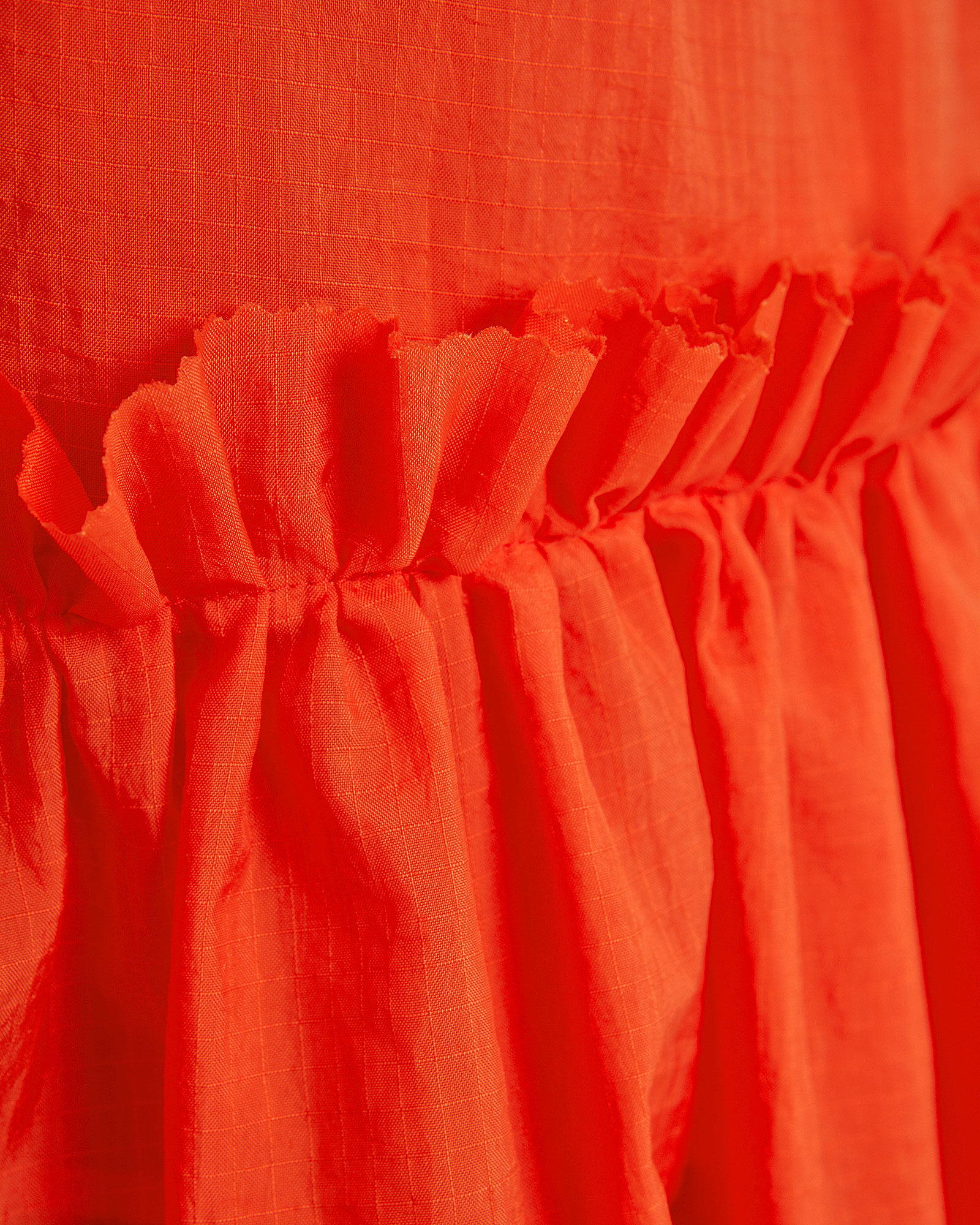 Nora Ruffle Tie Sleeve Top, ORANGE, hi-res