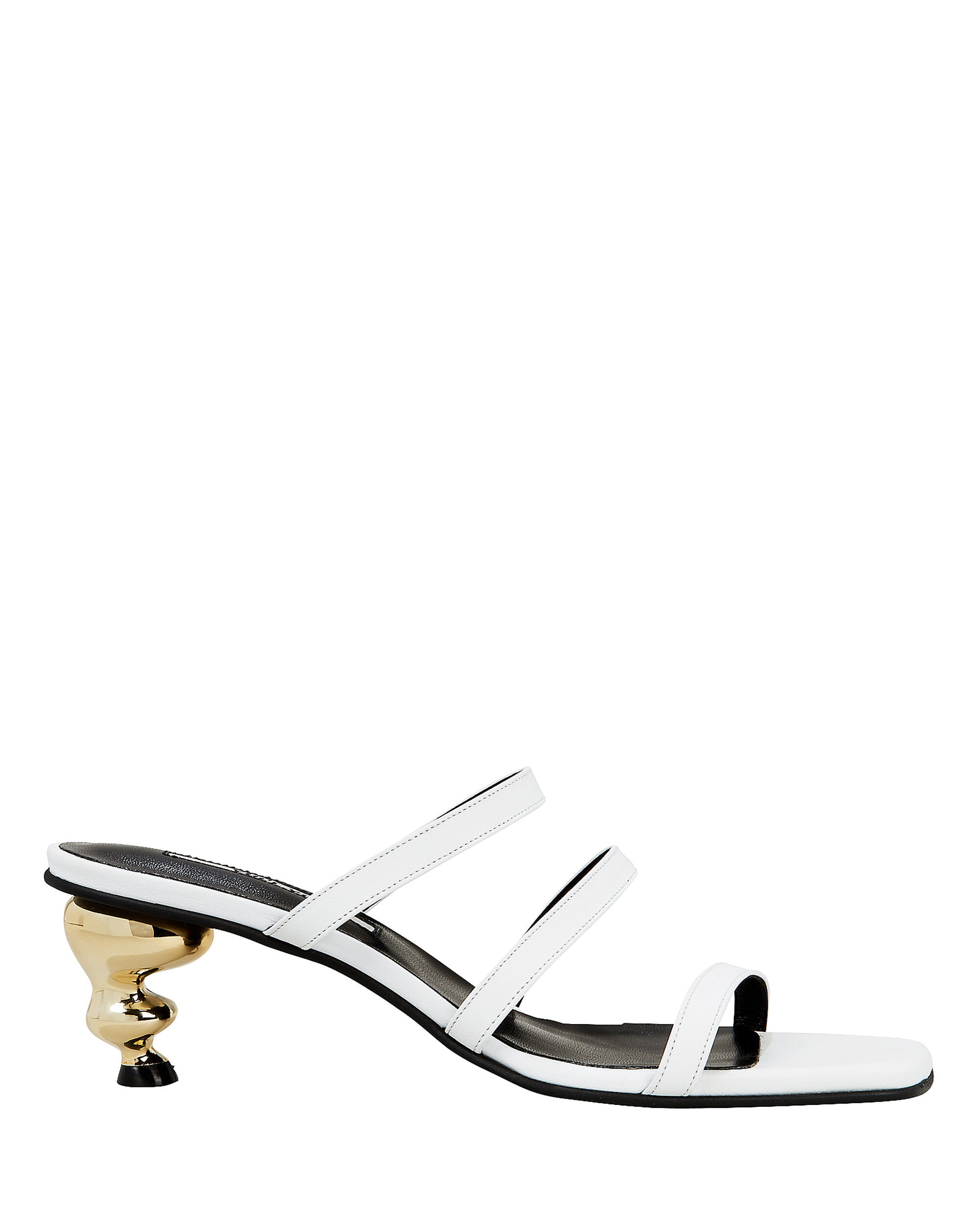 Gem Heel Slides, WHITE, hi-res