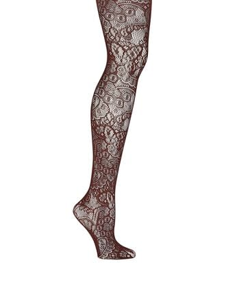 Eugenie Lace Tights, BROWN, hi-res