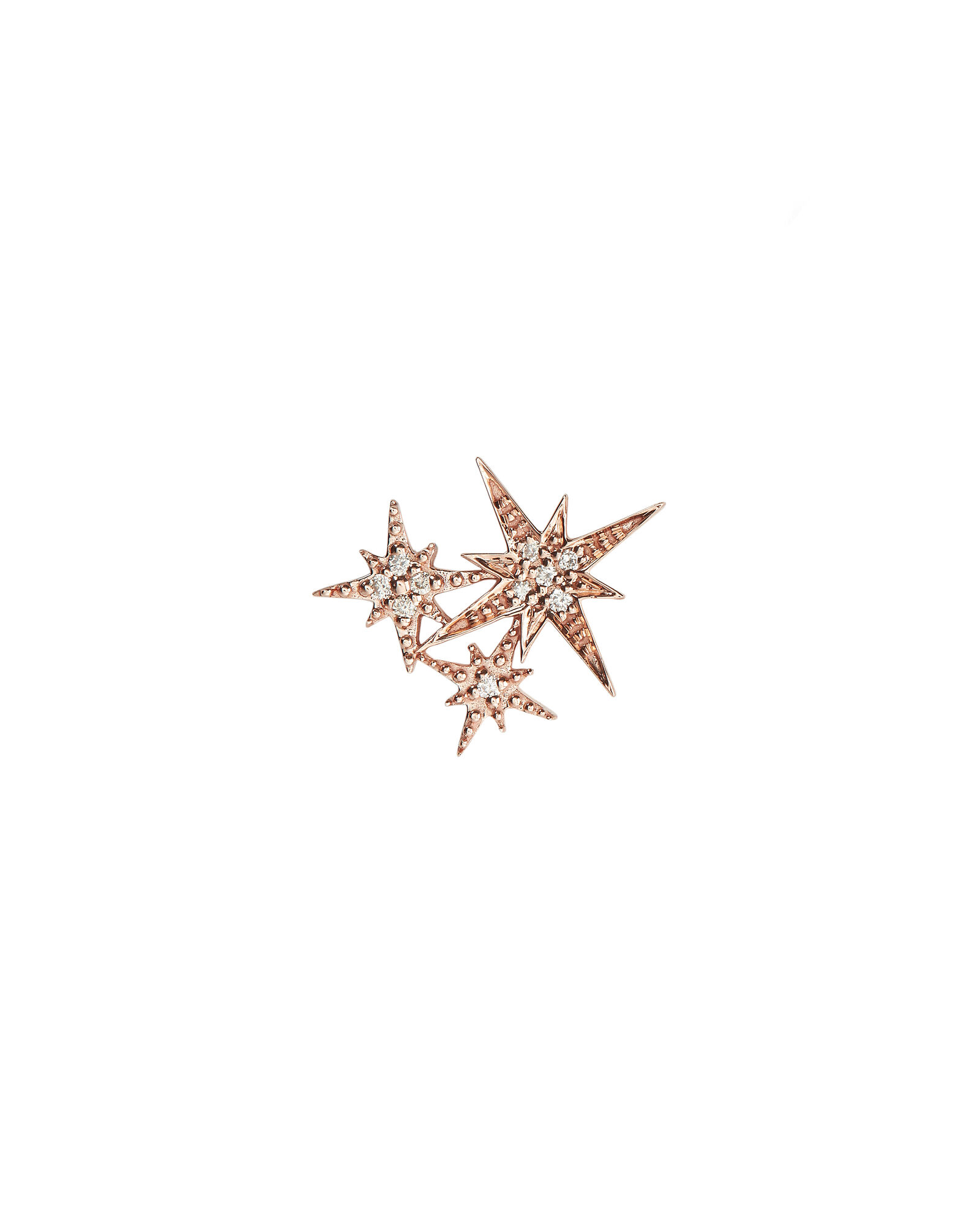 Starburst Diamond Single Stud Earring, ROSE GOLD, hi-res