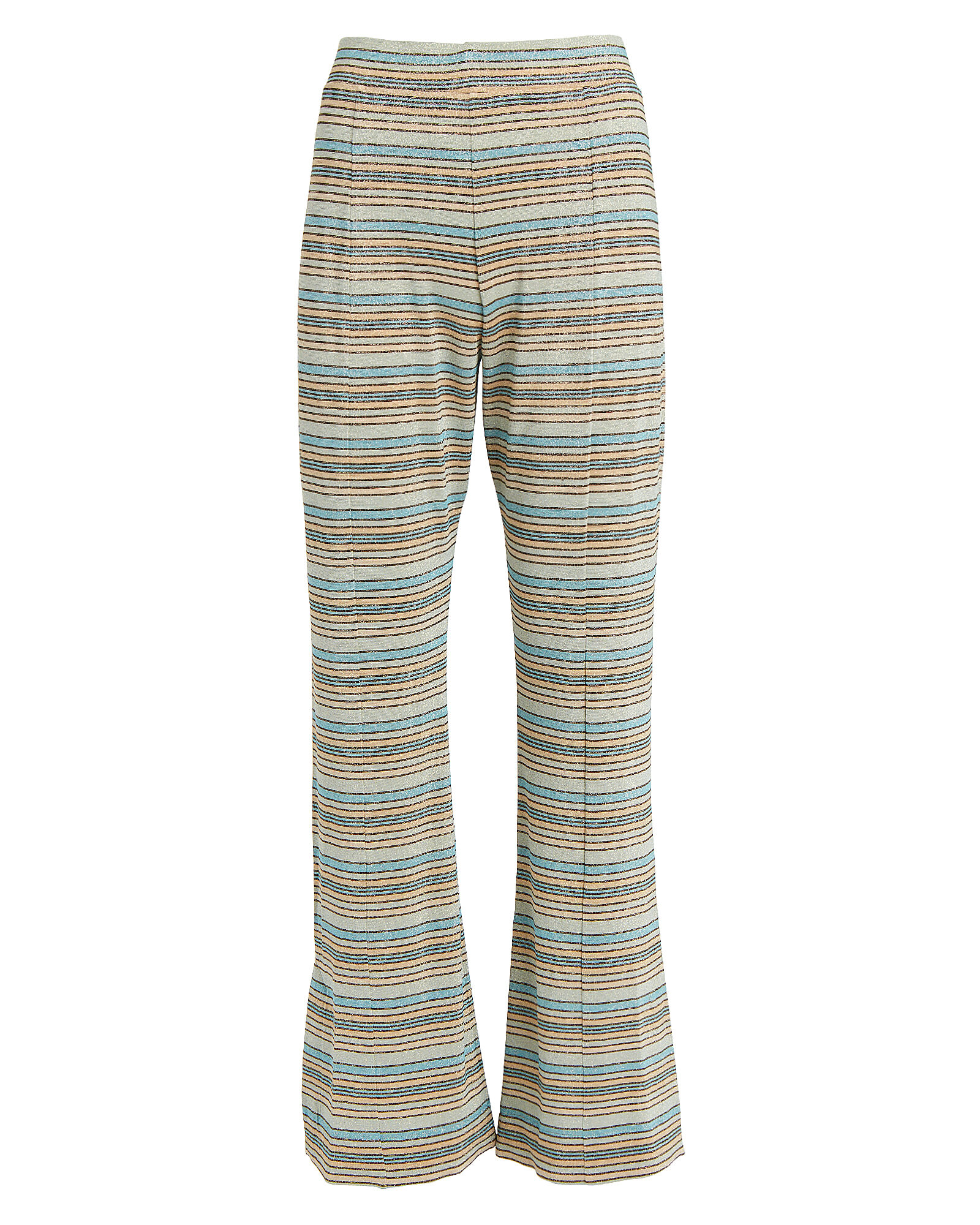 Melanie Flared Striped Lurex Pants, BLUE STRIPE, hi-res