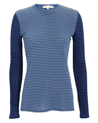 Mixed Stripe Jersey Top, BLUE-DRK, hi-res