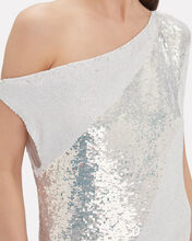 Michelle Off-The-Shoulder Sequin Blouse, WHITE, hi-res