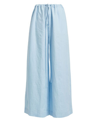 Fluid Drawstring Pants, POWDER BLUE, hi-res