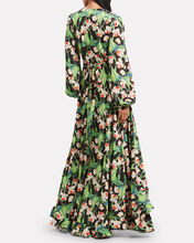 Floral Wrap Maxi Dress, MULTI, hi-res