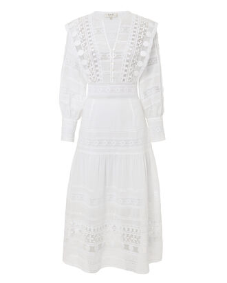 Ila Lace Midi Dress, IVORY, hi-res