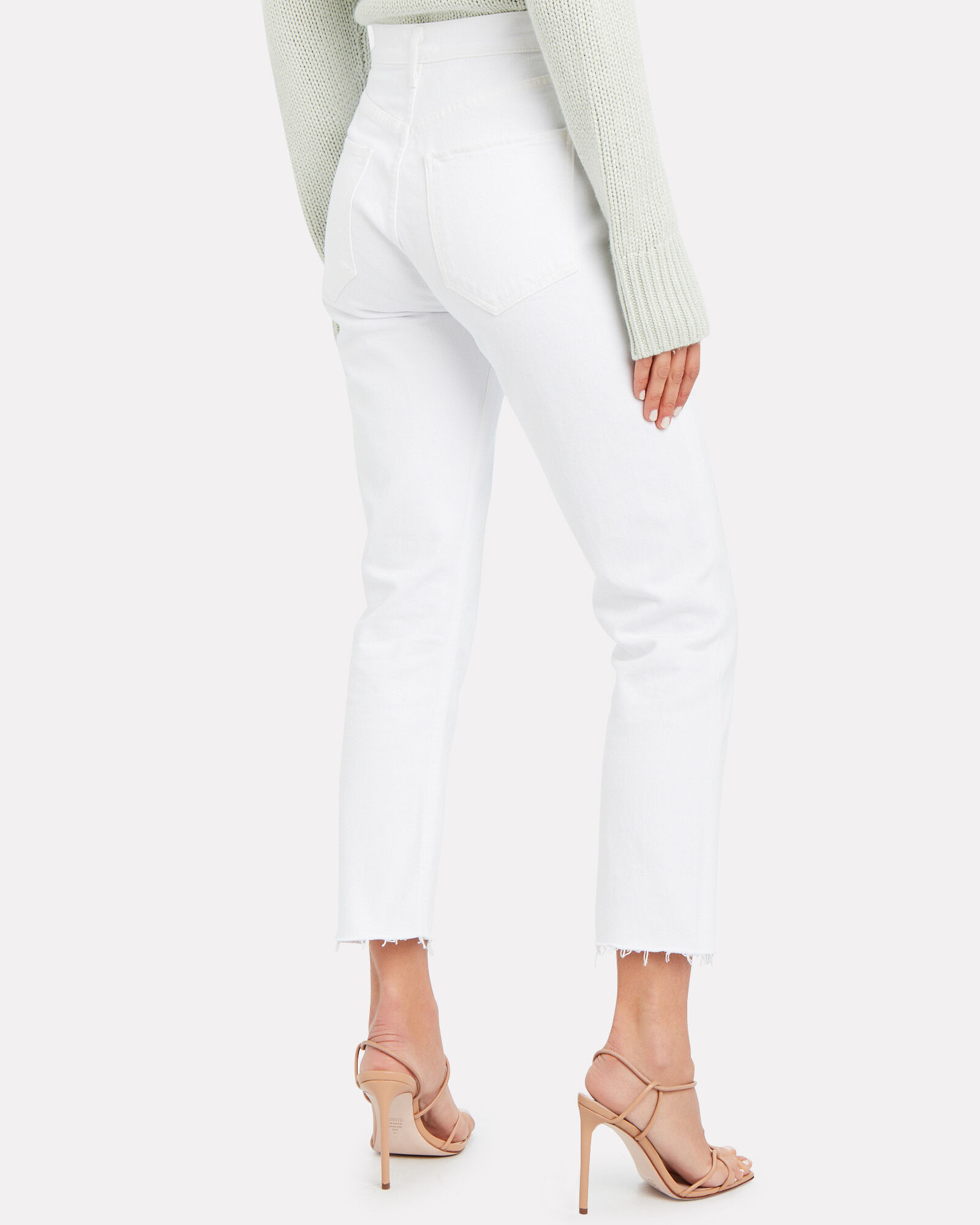 Riley High-Rise Straight Cropped Jeans, Blurred, hi-res