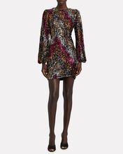 Alessandra Sequinned Mini Dress, MAGENTA/SILVER, hi-res