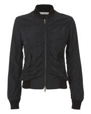 Shrunken Bomber Jacket, BLACK, hi-res