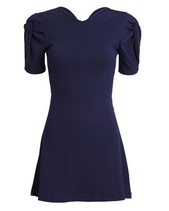 Hey Now Ribbed Mini Dress, NAVY, hi-res