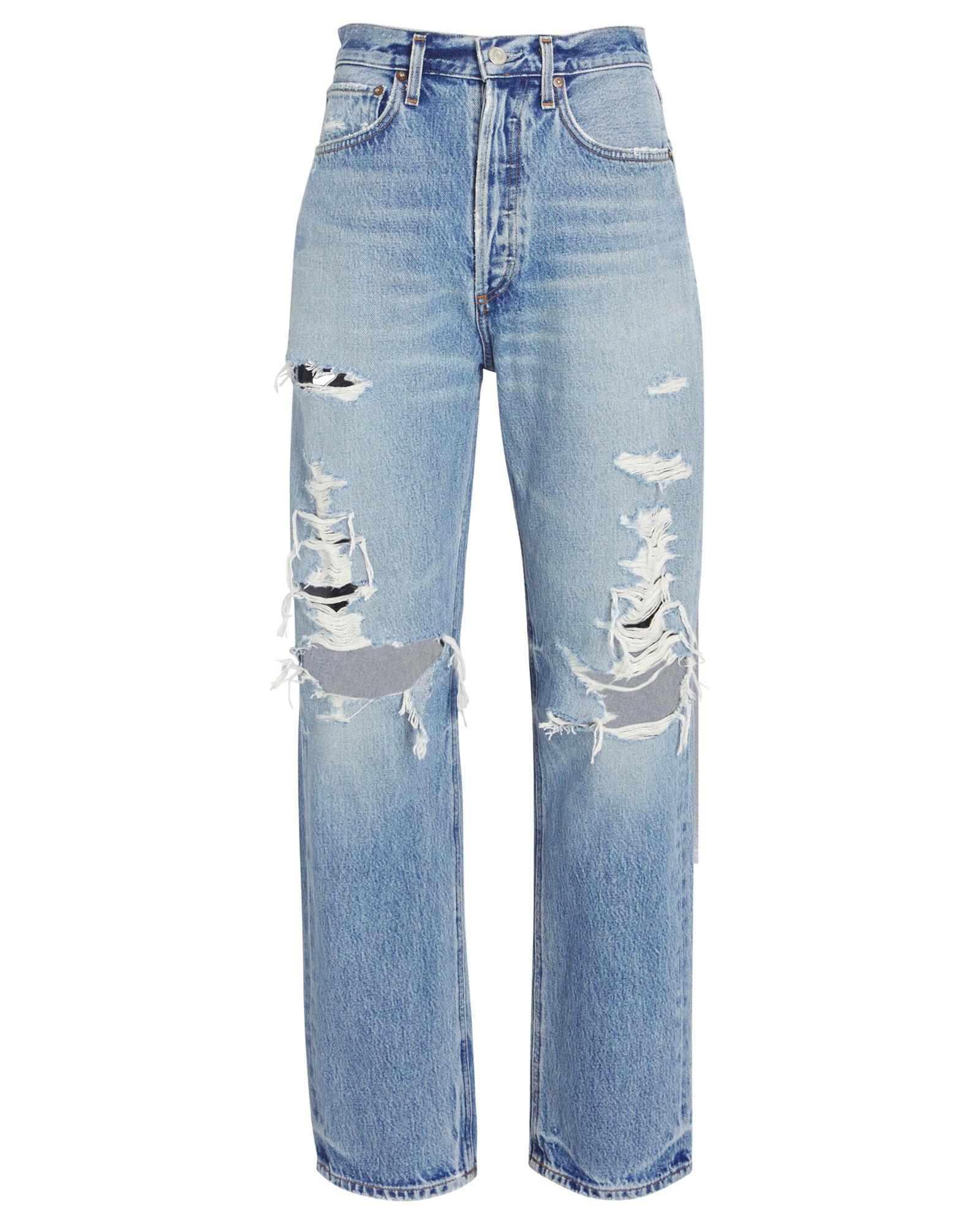 90s Loose Distressed Jeans, MAJOR, hi-res