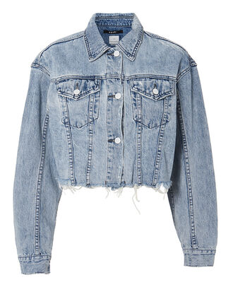 Daggerz Crop Denim Jacket, LIGHT BLUE DENIM, hi-res