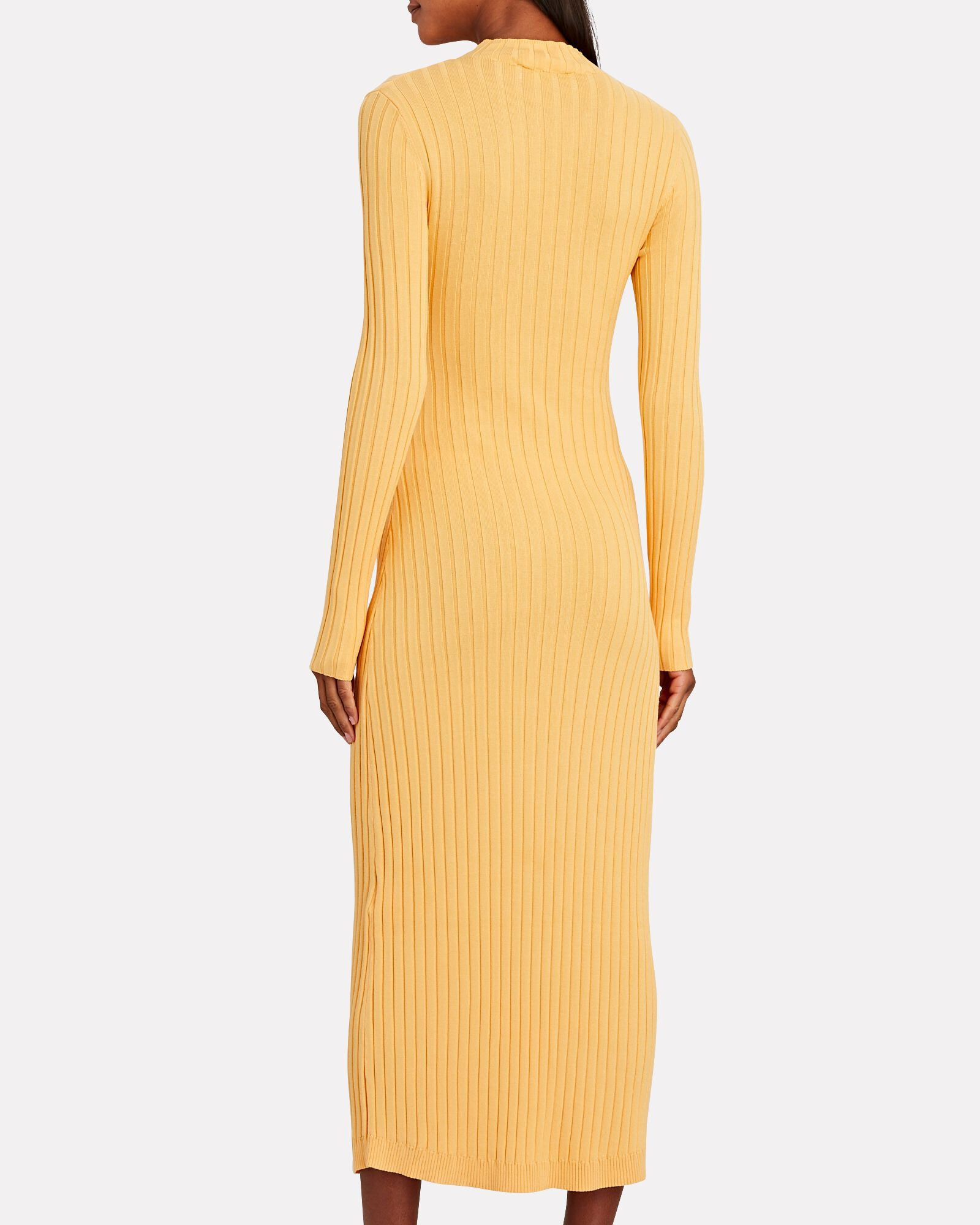 Ariana Tie-Front Sweater Dress, YELLOW, hi-res