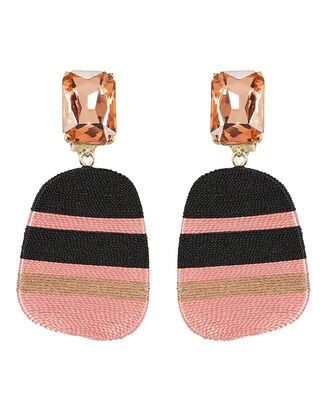 Preston Mismatched Stripe Earrings, PINK, hi-res
