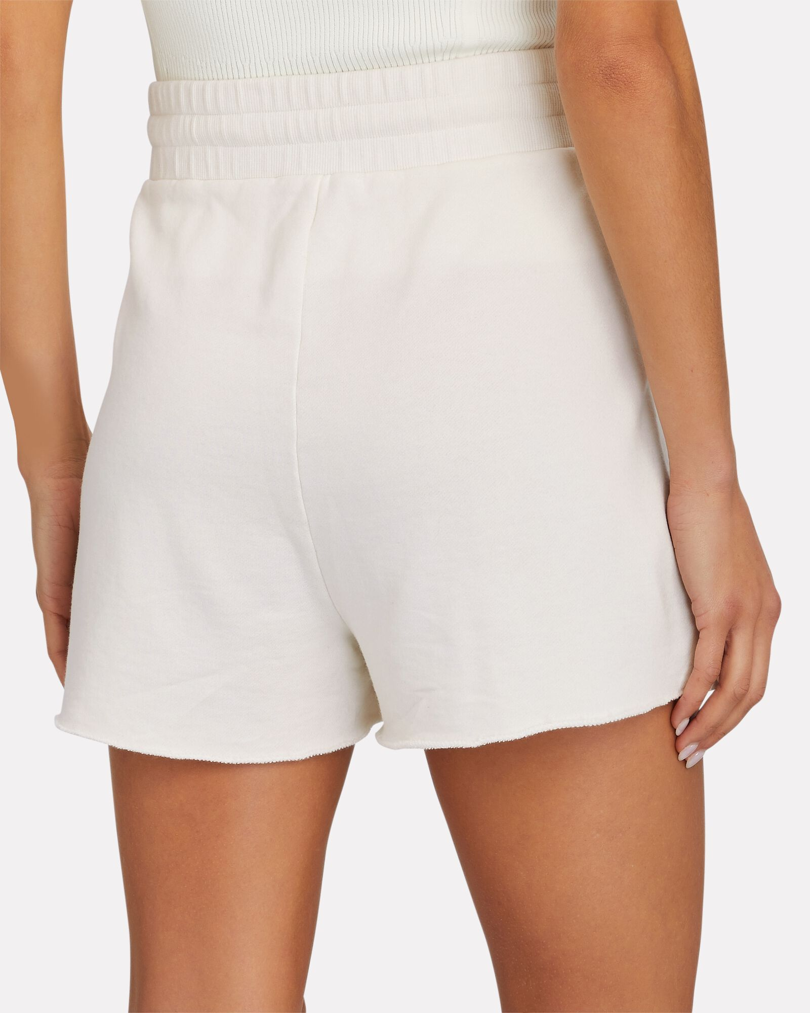 Tie-Waist Terry Shorts, IVORY, hi-res